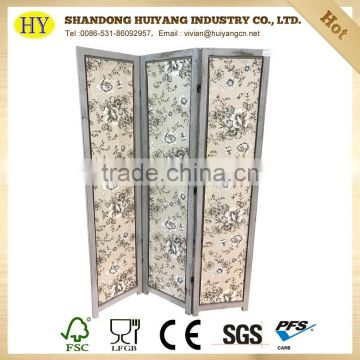 factory supply custom folding wooden cheap room divider