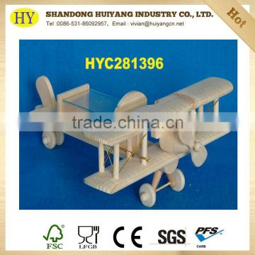 cheap natural unfinished wooden plane toy