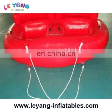 New design 2 riders water sports inflatable towable flying ski tube