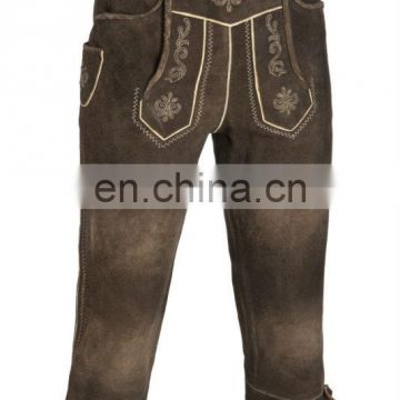 New Over-Knee Leather Pants Suede-Leather German Shorts -Bavarian-Lederhosen