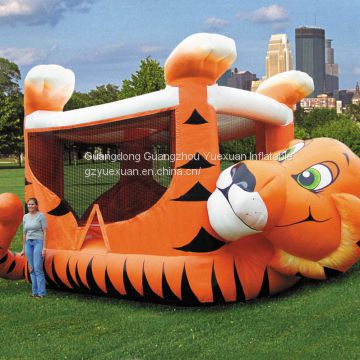 Giant custom inflatable tiger bounce inflatable bouncy castle for outdoor