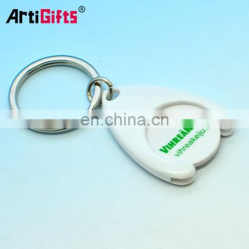 wholesale fashion canadian shopping cart token keychain