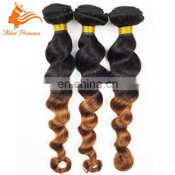 Best Quality Cheap Double Drawn Real Virgin Hair Bundles Ombre Wave Indian Peruvian Brazilian Human Hair Weft Extension