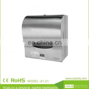 toilet hand wipe sensor tissue paper dispenser, bathroom wall mounted auto cut paper towel dispenser