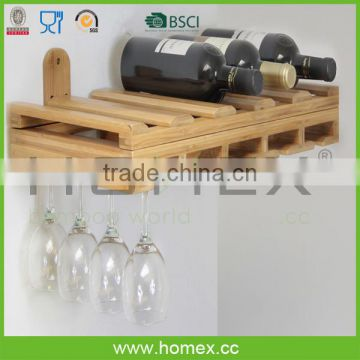 Marketable wine rack_bamboo wine bottle holder_wall mount wine rack_HOMEX