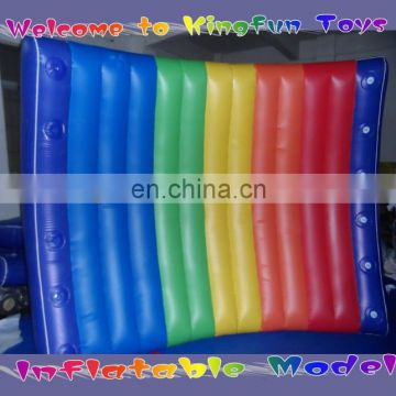 Colorful PVC inflatable floating wall with helium