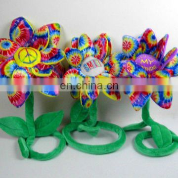 beautiful and colourful cotton plush stuffed flower toy