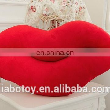Decorative cheap mouth shaped pillow and cushion Mouth shape cushion pillow