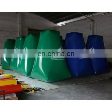 inflatable tower buoy with customized logos for swim event