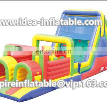 Most popular giant inflatable obstacle course for funny play ID-OB025
