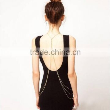 Europe and the United States the new body chains The metal multilayer full body chain conjoined necklace
