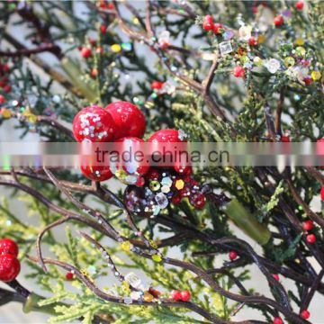 dry tree branch LGH15-15 red fruit pinecone tree branch party festival ornament