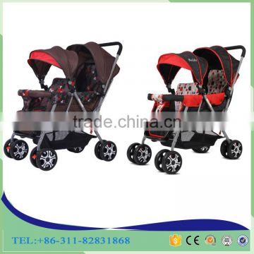 Hot Sale Twins Baby Stroller And Stainless Steel Twins Baby Buggy