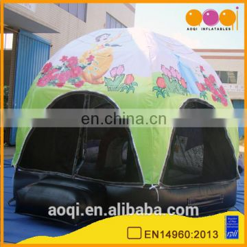 AOQI lovely cartoon advertising inflatable tent/dome tent for party