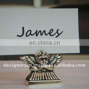 Silver Angel Wedding Favor Place Card Holder
