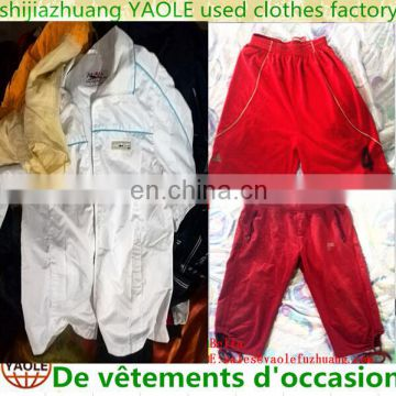 Largest china used clothing exporters cream Used Clothes and shoes