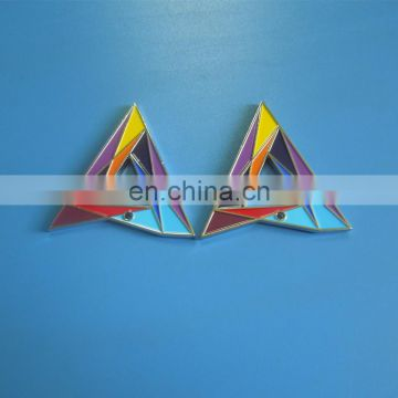 personalized triangle shape soft enamel metal charm pendants for decoration
