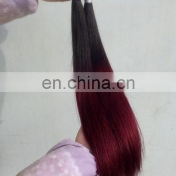 Brazilian Ombre Color T1b-99j Wine Colored Straight Hair Weave Red Braiding Hair