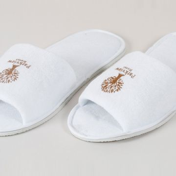 Eliya comfortable disposable cotton terry hotel slippers