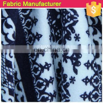 Onway Textile matt polyester meryl rayon spandex jersey fabric printed for garments