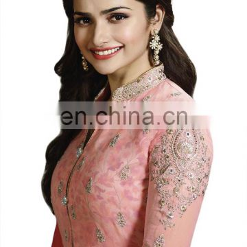 Attractive Pink Colour Semi-Stitched Salwar Kameez Dress Material For Party Wear / Casual Wear & Office Wear(salwar kameez Suit)