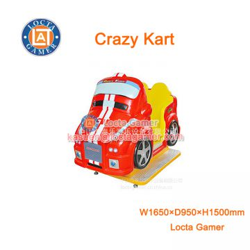 Zhongshan amusement kiddie rides for kids coin operated Crazy kart