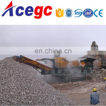 Aggregate mobile crushing screening station plant for soft / hard stone
