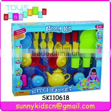 cute tableware set toys plastic kitchen set toys with EN71