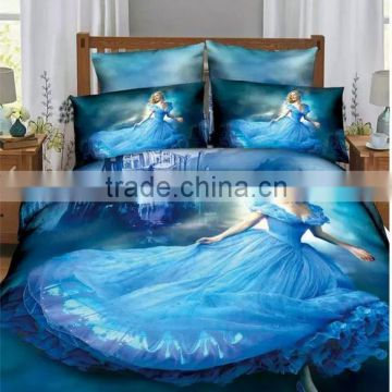 fashionable royal blue bedding sheet 100% cotton for sale -factory directly