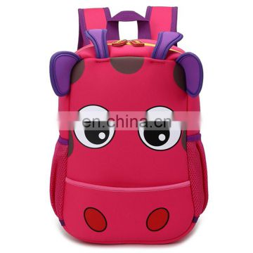 2017 factory price neoprene kids school bag