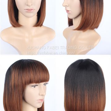 Short fashion style top quality hot selling virgin human hair wig