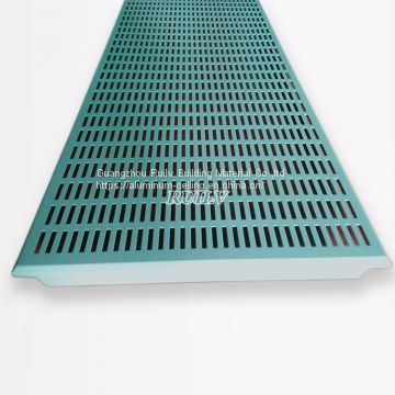 600*1200mm Aluminum Clip in Ceiling/Aluminum Ceiling with rectangle Hole/ Metal Ceiling tile for AuDI 4S Store