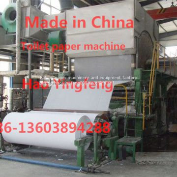 Model 2400 toilet paper machine
