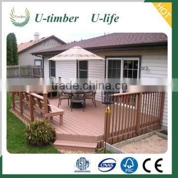 WaterProof Wood Plastic Composite Decking Floor WPC outdoor decking DIY high quality outdoor decking flooring tile