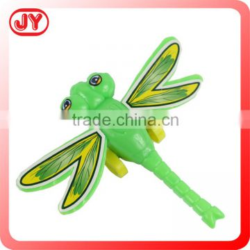 Eco-friendly plastic pull back toys dragonfly
