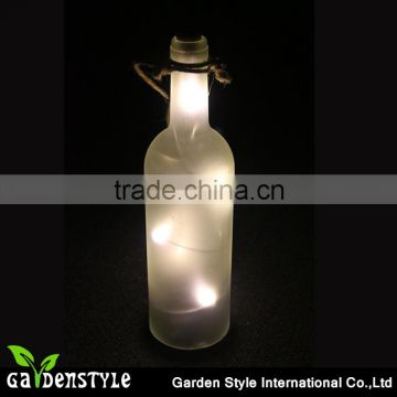 hanging light creative design, clear glass bottle led, Pull Tab battery Operation led light product