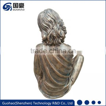 Life Size Bronze Girl Reading Statue Sculpture Decoration
