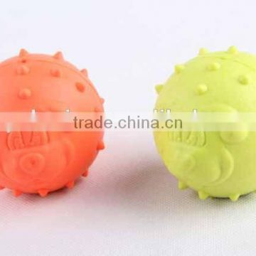 TPR pet toy colorful round ball hot sale dog toy