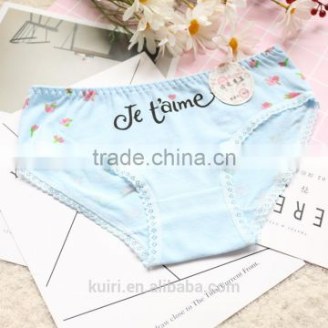 Cute girl cotton briefs underwear Custom Sexy Ladies Underwear cotton panties c7