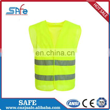 CE safety retro-reflective fabric vest for sale