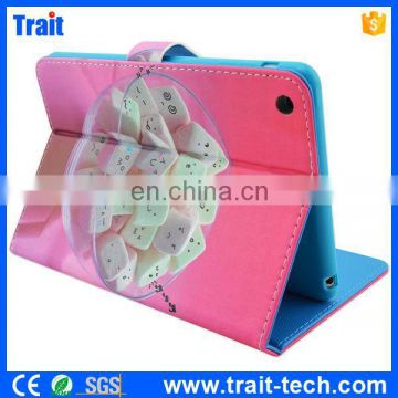 Factory Sales Cute Pattern for iPad Mini 2/3 Leather case