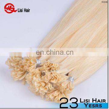 2015 Hot Sale Top Quality Keratin Glue Remy Fusion Brand Name 100% remi u-tip hair extensions 1gram