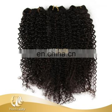 Top quality hot sale hair weft malaysian hair kinky curly