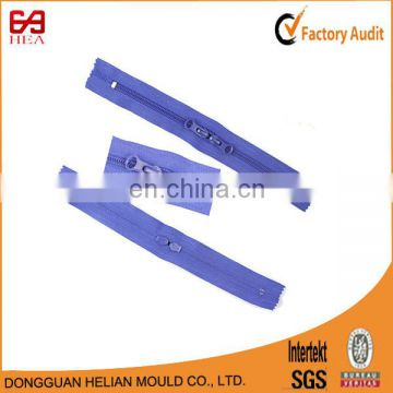 High quality 3# 2 way close end,nylon zippers with head to head sliders