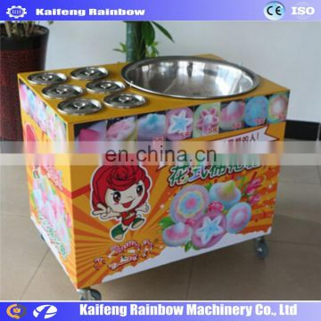 Multifunctional Best Selling fashionable flower shape cotton candy floss making machine cotton candy forming machine