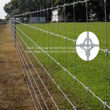 Cheap Hot Dip Galvanized Fixed Knot Farm&Field Fence Manufacture