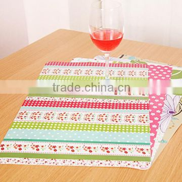 XG07 Mats Pads silicone pvc anti slip place table mat,pp 3d table silicone placemat                                                                         Quality Choice