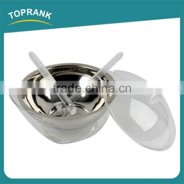 New design stainless steel iced salad bowl with dome lid