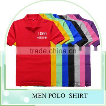 Plain dyed polo mens organic cotton t shirt wholesale