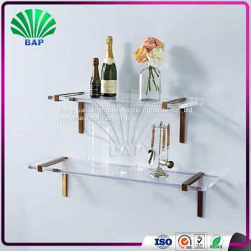 Cosmetic Shelf Clear Lucite Wall